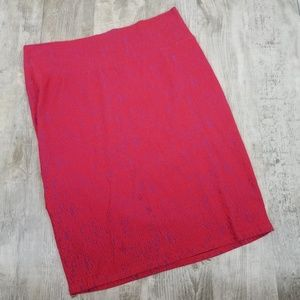 LuLaRoe Plus Size Cassie Pencil Skirt Red 2X